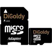 память SD Micro 16Gb DiGoldy кл.10 +SD adapter в интернет магазине Импульс, фото