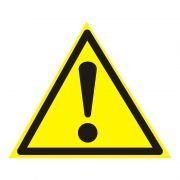 """Знак информационный """"Внимание.Опасность"""" 150*150*150мм REXANT 55-0021 в интернет магазине Импульс, фото"""