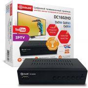 Ресивер цифров эфирного ТВ D-Color DC1602HD DVB-T2 WiFi антенна в компл в интернет магазине Импульс, фото