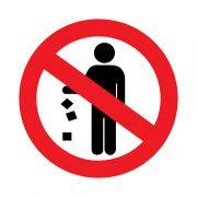 знак запрещающий Не мусорить 150*150мм REXANT 56-0013 в интернет магазине Импульс, фото