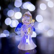 Фигура светодиодная Ангел с гитарой 1LED,RGB,цветной 1353349 в интернет магазине Импульс, фото