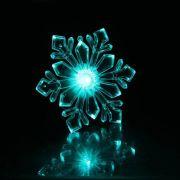 Фигура светодиодная Снежинка ледяная 10см,на подставке с присоской,разноцв. 1353353 в интернет магазине Импульс, фото