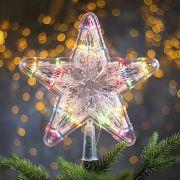 Фигура светодиодная Звезда Белая ёлочная 24x24см,30LED,2м,240V,разноцв. 2291976 в интернет магазине Импульс, фото