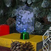 Фигура светодиодная подставка Волшебного Нового Года 14,5х7,8см,1LED,разноц. 2446490 в интернет магазине Импульс, фото