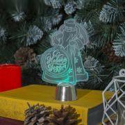 Фигура светодиодная подставка Дед Мороз 14,5х9см,1LED,разноцв. 2446498 в интернет магазине Импульс, фото