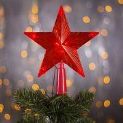 Фигура светодиодная Звезда Красная ёлочная 16x16см,10LED,2м,240V,красные 3612318 в интернет магазине Импульс, фото