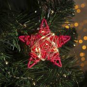 Фигура светодиодная подвеска Звезда красная 9х9х2см,20LED,жёлт.(тёпл.бел.) 4365643 в интернет магазине Импульс, фото