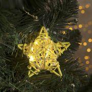 Фигура светодиодная подвеска Звезда жёлтая 9х9х2см,20LED,жёлт.(тёпл.бел.) 4365644 в интернет магазине Импульс, фото
