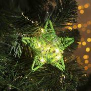 Фигура светодиодная подвеска Звезда зелёная 9х9х2см,20LED,жёлт.(тёпл.бел.) 4365645 в интернет магазине Импульс, фото