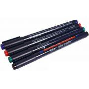 Маркер набор Е-8407#4S 0,3мм (черн.красн.зелен.синий) для маркировки кабелей 09-3997 в интернет магазине Импульс, фото