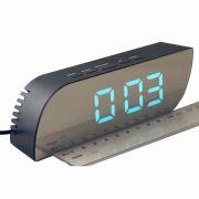 Часы-будильник DS-018-2,электронные,зел.цифры в интернет магазине Импульс, фото