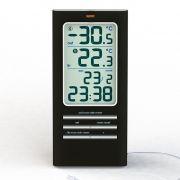 Термометр+гигрометр ALBIREO 42309 цифровой с датчиком на улицу, часы в интернет магазине Импульс, фото