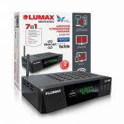 Ресивер цифр. эфир ТВ LUMAX DV4207HD диспл.,3кноп.,Dolby,WI FI метал корпус HDMI в интернет магазине Импульс, фото