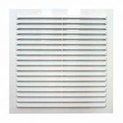 решетка вентиляционная 200х200мм с москитной сеткой ABC пластик белая 45975 в интернет магазине Импульс, фото