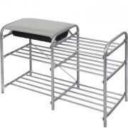 Этажерка Люкс-5 3-х яр.серый сид. мягк. 500*330*800 ЭТЛ5/3 в интернет магазине Импульс, фото