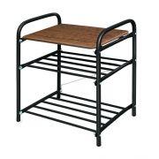 Банкетка-2 разб. сиденье МДФ черный-дуб антик 500*330*450 Б2/ДА в интернет магазине Импульс, фото